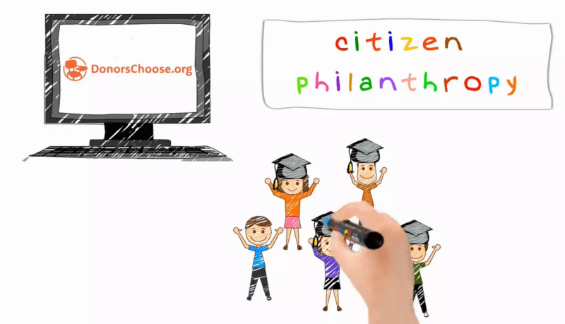 Gisteo of the day: animated explainer video for DonorsChoose.org