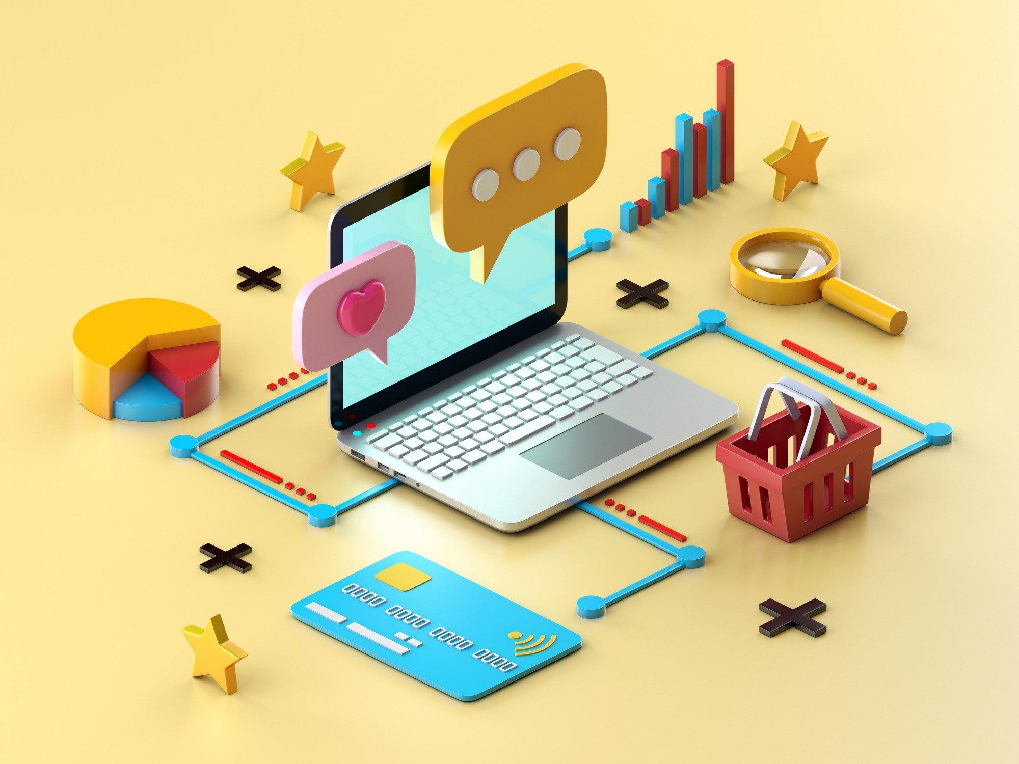 Business marketing animation